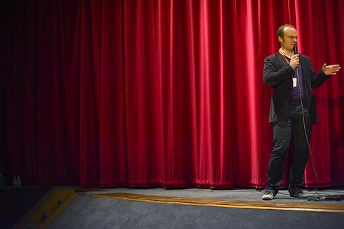 Director of The Search for Emak Bakia Oskar Alegria at Filmhouse, Edinburgh