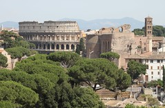 The Colloseum and the Basilica (Rory Francis) Tags: italy rome roma building history ancient stair italia roman empire rhufain hanes adeilad hynafol yreidal rhufeinig eachdraidh aneadailt aniodail ymerodraeth iompaireachd