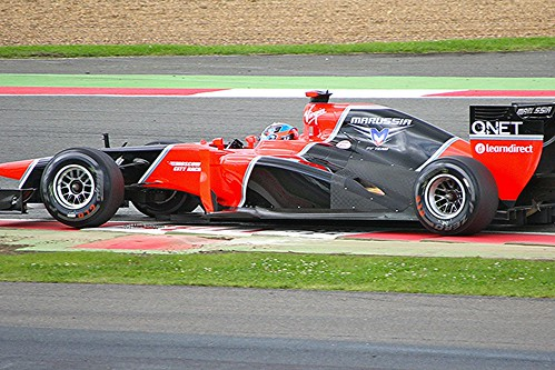 Timo Glock in his Marussia at Silverstone