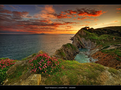 108.2012 - Lulworth.@.Frame (Pawel Tomaszewicz) Tags: uk light sunset shadow wallpaper england sky colors beautiful clouds photoshop sunrise canon photography eos photo bravo europe angle photos wide wideangle dorset hdr poole hdri pawel chmury photomatix wyspa wymouth tomaszewicz paweltomaszewicz