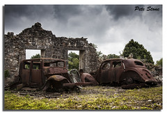 Oradour-sur-Glane 2............ (pete stone) Tags: france cars rust massacre remains limousin oradoursurglane canoneos5d