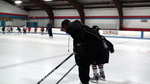 Brad Perry coaching a hockey school in Chicago  13
