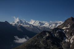 Monte Rosa mountains as seen from the Weisshornhütte Photo