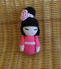 Kokeshi face (Amygurumy) Tags: pink cute rose japanese spring doll pattern crochet free kawaii hook amigurumi kokeshi printemps mignon peluche kimidoll amygurumy passionfyre