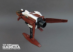 TR-501 Gamera Variable Fighter (Red Spacecat) Tags: lego space gamera moc starfighter starfightertelephonegame