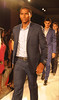 Antonio Valencia Manchester United football players pose on the catwalk during a Hublot Charity Dinner and Fashion Show event in aid of the MU Foundation at Shangri-La Hotel Shanghai, China