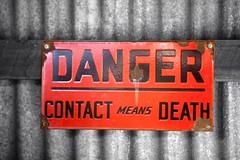 Danger (D J Millard) Tags: red colour danger village australia historic qld cairns aus selective herberton canoneos5dmkii