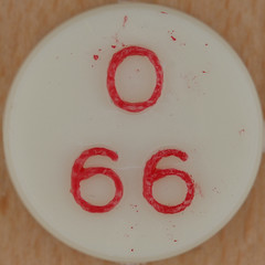 Bingo Number 66 (Leo Reynolds) Tags: canon eos iso100 66 number squaredcircle lotto 60mm f80 bingo loto housie housey 0125sec 40d hpexif numberset numberbingo houseyhousey xsquarex housiehousie xleol30x sqset082 bingoset31