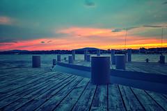 * (pagolbhai) Tags: sunset summer ny newyork fishing hudsonriver beacon hudsonvalley longdock beaconharbor