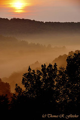 Misty Mountain Sunrise [Explore August 3, 2012] (travelphotographer2003) Tags: usa mist beauty sunrise solitude westvirginia serenity majestic appalachianmountains alleghenymountains mistymorning interstate79 beautyinnature mistymountainsunrise
