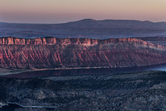 First light on Flaming Gorge (ashergrey) Tags: light red mountain rock sunrise landscape utah first national area gorge recreation overlook flaming dowd
