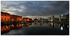 Liverpool 9 (Brian Gort Wildlife Photography) Tags: city water liverpool reflections twilight dock nikon albert hour merseyside d90 flickraward flickraward5