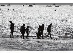 Sombras  - Shadows (pietroalge) Tags: shadow summer blackandwhite bw beach playa sombras