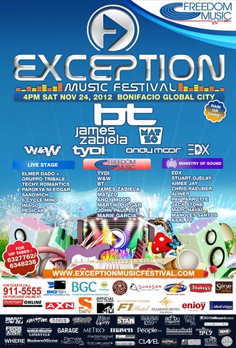 Exception Musical Festival on Nov 24 at BGC