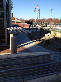 The flags are flying for Black and Gold Transfer Visit Day, November 8, 2012!