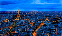 Paris Night Skyline (davecurry8) Tags: nightphotography sunset paris france skyline eiffeltower invalides montparnasse tourmontparnasse