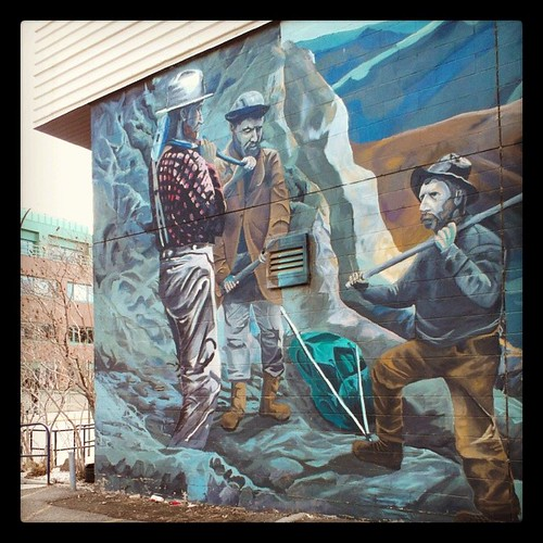 Mural of prospectors at #yukon Klondike gold rush #yxy
