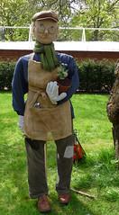 Fred the under gardener - bean pole scarecrow (karenblakeman) Tags: uk scarecrow april caversham 2014 cavershamcourtgarden beanpoleday mikelelliot hestercasey fredtheundergardener