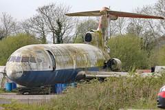 G-AVFE (GH@BHD) Tags: rescue aircraft aviation ba wreck britishairways airliner trident baw aldergrove trijet bfs hawkersiddeley belfastinternationalairport egaa hs121 firetrainer gavfe
