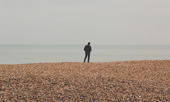 2956 (sul gm) Tags: ocean uk greatbritain inglaterra sea england man beach walking outdoors coast mar brighton alone unitedkingdom playa plage eastsussex hombre reinounido