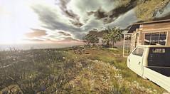 Beach Cafe (alidamor.anatra) Tags: sea summer beach nature clouds digital landscape cafe sl secondlife bliss feelings