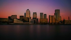 IMG_6565a (keracure777) Tags: city sunset london skyline architecture long exposure cityscape waterfront outdoor dusk wharf canary