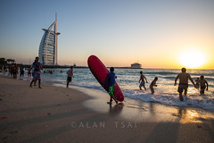 Jumeriah sunset (Alan Dreamworks) Tags: leica travel sunset red dubai uae burjalarab summilux 21mm jumeriah