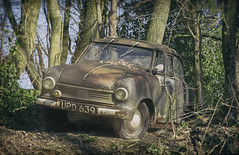 Forest Hideout [Explore] (Martyn.Smith.) Tags: car forest canon woodland germany eos photo rust classiccar vintagecar flickr image decay rusted corrosion decaying rustycar 2016 flickrexplore explorephotos sigma1770mmlens 700d