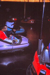 West Germany    -    HerbornSeelbach    -    Kirmes     -    Jeb & friend....fun in bumper cars    -    September 1989