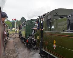 Everyone paying attention? (davids pix) Tags: pacific navy steam gloucester locomotive preserved oriental merchant warwickshire peninsular 2016 gotherington 35006 46521 92214 peninsularoriental 30052016
