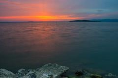 Vecchio molo di Sant'Arcangelo, lago Trasimeno (--marcello--) Tags: longexposure sunset lake nature landscape umbria trasimeno