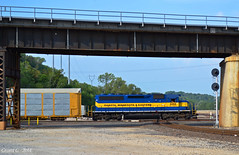 """Westbound Local in Kansas City, KS (""""Righteous"""" Grant G.) Tags: city railroad west minnesota train pacific railway trains canadian junction missouri kansas local eastern dakota freight westbound dme"""