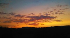 Red and orange sunset 5-23-16 final (Ansel Adams J.R) Tags: sunset sky wide angle view cell phone mountains clouds blue deep dark colorful green vermont dusk setting