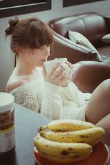 Amandine - Portrait (DavidChapet) Tags: morning portrait woman sexy girl happy friend tatoo fille chill brune amandine tatouage