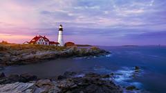 Portland Blues (joaquinjavier115) Tags: blue sunset lighthouse portland head maine hour