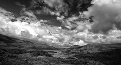 Ladies View - b/w (Marcus Rahm) Tags: ireland sky blackandwhite bw nature clouds landscape mono nationalpark europa europe cloudy outdoor natur irland viewpoint landschaft 1022mm killarneynationalpark countykerry ringofkerry canon1022mm