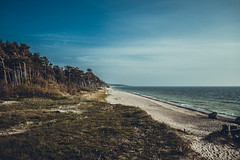 Baltic Sea (TOMS) Tags: blue trees sea sky tree beach nature stone landscape coast seaside sand nikon outdoor ngc baltic latvia shore coastline 1855mm northern forts liepaja d3200 vrii