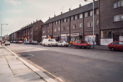 George Street, Paisley (ianrwmccracken) Tags: film 35mm canon lens march scotland 28mm slide positive 29 paisley 1985 georgestreet kodachrome64 fd ae1program