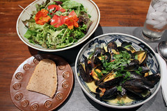 Mussels in Curried Coconut Sauce (meg williams2009) Tags: mussels localfood unionsquaregreenmarket coconutcurrysauce localseafood seatuckfishcomapny