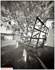Feed wagon (DelioTO) Tags: ontario canada rural blackwhite spring object may trails pinhole historical 4x5 toned natparks adoxchs100 autaut f175 aph09