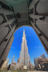 UAE Dubai-Burj Khalifa-9 (toshi eyes) Tags: burjkhalifa dubai uae landscape architectural bluesky tower blue outdoor souk