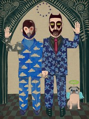 The Kings of Crystal Palace / European Union (chris straker) Tags: dog pug marriage pride artnouveau gaypride gaymarriage europeanunion android androids ipadart artsetapp