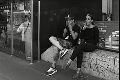 Couples & Smokers #PK509245 (Jirka_S2) Tags: photography streetphotography observationoflife closeencounters bw magmag jirkas2 czech