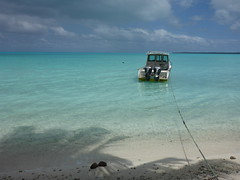 Water and sky (Magryciak) Tags: ocean trip travel blue sea holiday colour water outdoors island lumix boat paradise pacific outdoor lagoon panasonic cookislands rarotonga awe amazed islandlife 2015