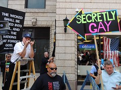 Dealing Properly with Haters (Chicago Man) Tags: city gay urban usa chicago illinois religion protest chitown pride scene parade tolerance chi lgbt hate christianity fest anti homophobic haters fesitval bigot bigots homophobe bigotry homophobes lgbtq chitownphotoscom johnwiwanski