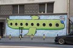 fly away (milenche) Tags: urban green colors architecture graffiti serbia belgrade beograd srbija