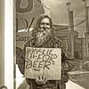 Why Lie - it's for beer!☺ (.•۫◦۪°•OhSoBoHo•۫◦۪°•) Tags: sanfrancisco california sign canon funny streetphotography humour honest friendly powellstreet smileyface beardyman canoneos40d whylieitsforbeer youseealotofthishere somanyhomelessinsanfrancisco