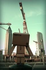 Hoch hinaus (AK_74) Tags: up high crane frankfurt fair baustelle messe kran buildingsite oben ffm danbo hoch danboard