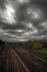 Railway to heaven (Robyn Hooz) Tags: bridge light sky ex clouds train canon wonderful eos nuvole sigma cielo railways treno luce padova ferrovia binari cokin gnd meraviglia cavalcavia hsm 550d 1020ex