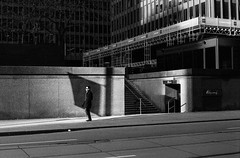 Financial District Sunday (zenlibra) Tags: toronto film streetphotography ilfordhp5 800 leicam6 1stoppush hc110b filmwins cv50mmf15nokton believeinfilm